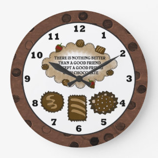Chocolate Friendship sweet treat wall clock