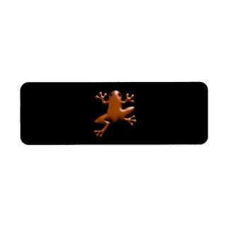 Chocolate Frog Return Address Label