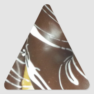 Chocolate Frosted Donuts Triangle Sticker
