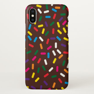 Chocolate Frosted Sprinkles iPhone X Case