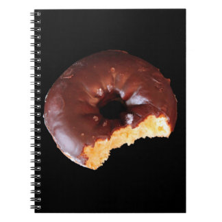 Chocolate Frosted Yellow Cake Donut Photo Notebooks