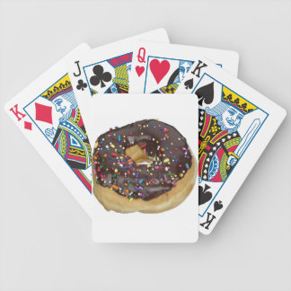 Chocolate Frosting Donut Bicycle Playing Cards