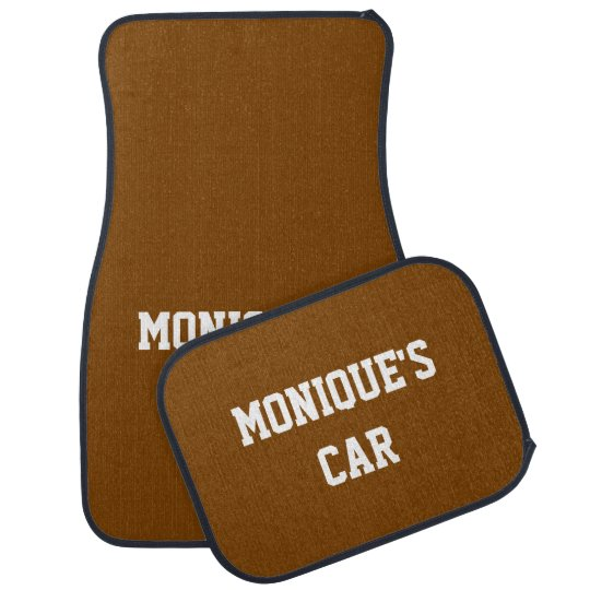 Chocolate Gift Solid Colour Name Car Mat