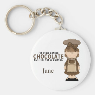 Chocolate Girl 3 Keychain