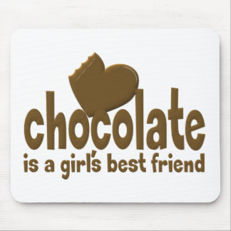 Chocolate Girl s Best Friend Mouse Pad