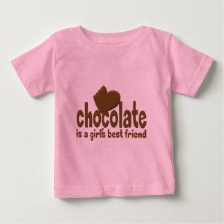 Chocolate Girl's Best Friend Baby T-Shirt