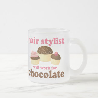 Chocolate Hair Stylist Occupation Gift Frosted Glass Mug