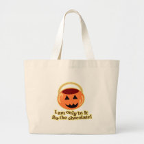 Chocolate Halloween Trick or Treaters Large Tote Bag