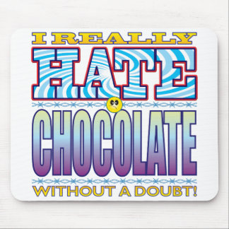 Chocolate Hate Face Mouse Pad