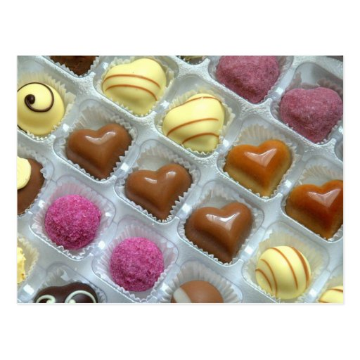 Chocolate Heart Box Postcards