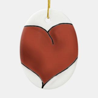 Chocolate Heart Ceramic Oval Decoration