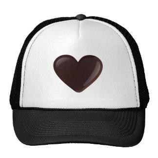 Chocolate Heart Mesh Hats