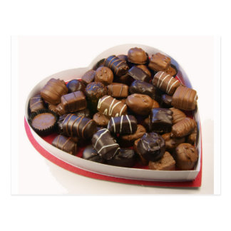Chocolate Heart Postcard