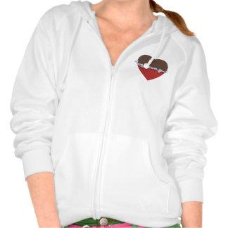 Chocolate Heart Sweatshirts