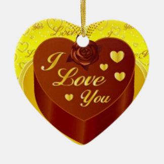 Chocolate Heart Valentine Ornament