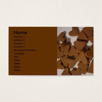 Chocolate hearts business card