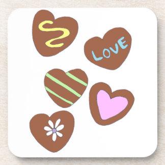 Chocolate Hearts Coasters