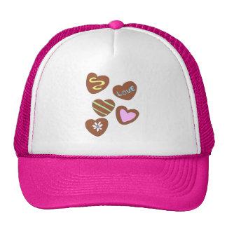 Chocolate Hearts Trucker Hats