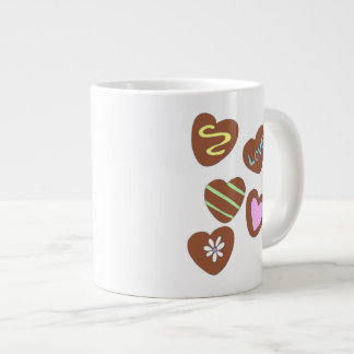 Chocolate Hearts Jumbo Mug