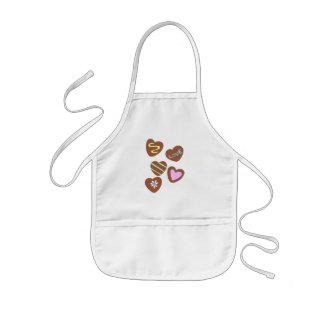 Chocolate Hearts Kids Apron