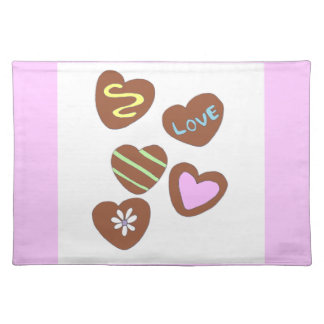Chocolate Hearts Placemat
