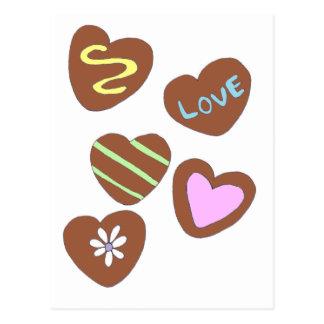 Chocolate Hearts Postcard