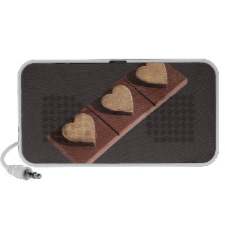 Chocolate Hearts Save the Date Notebook Speakers