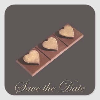 Chocolate Hearts Save the Date Stickers