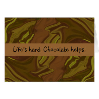 chocolate helps card
