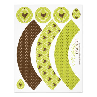Chocolate Hens Cupcake Wrappers 21.5 Cm X 28 Cm Flyer
