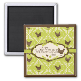 Chocolate Hens Magnet S