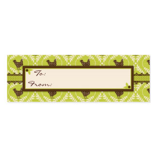 Chocolate Hens Skinny Gift Tag 2 Pack Of Skinny Business Cards
