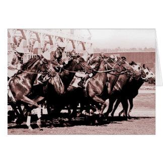 Chocolate Horse Race Cards