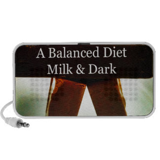 Chocolate Humour - A Balanced Diet Portable Speakers