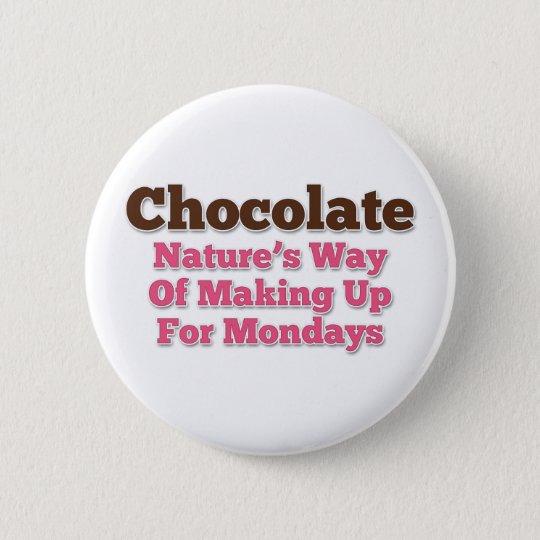Chocolate Humour Saying 6 Cm Round Badge