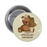 Chocolate Ice Cream Bear Button