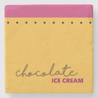 Chocolate Ice Cream Coaster