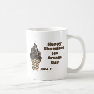 Chocolate Ice Cream Day June 7 Basic White Mug