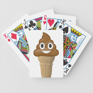 Chocolate Ice cream or is it? Fun with Emoji Bicycle Playing Cards