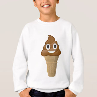 Chocolate Ice cream or poop? Emoji fun! Sweatshirt