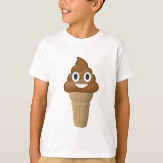 Chocolate Ice cream or poop? Emoji fun! T-Shirt