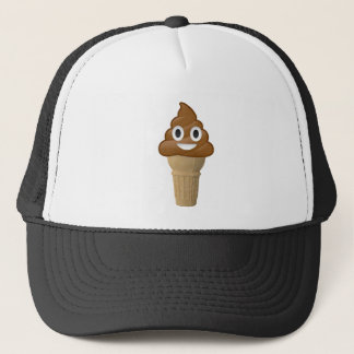Chocolate Ice cream or poop? Emoji fun! Trucker Hat