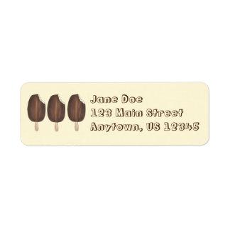 Chocolate Ice Cream Popsicles Return Address Label