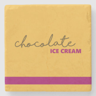 Chocolate Ice Cream Stone Coaster