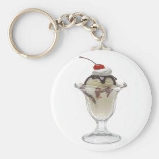 Chocolate Ice Cream Sundae Key Ring