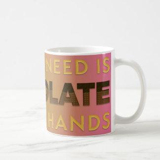 Chocolate in Both Hands 11 oz Classic White Mug