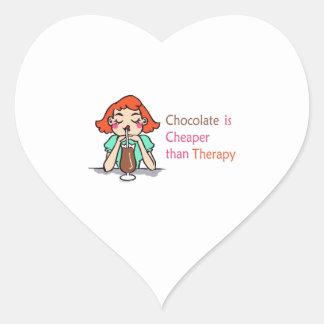 CHOCOLATE IS CHEAPER HEART STICKER