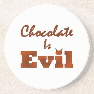Chocolate Is Evil Coaster