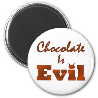Chocolate Is Evil Round Magnet