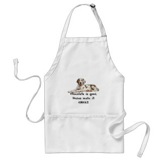 Chocolate is Good, Danes make it GREAT! Adult Apron